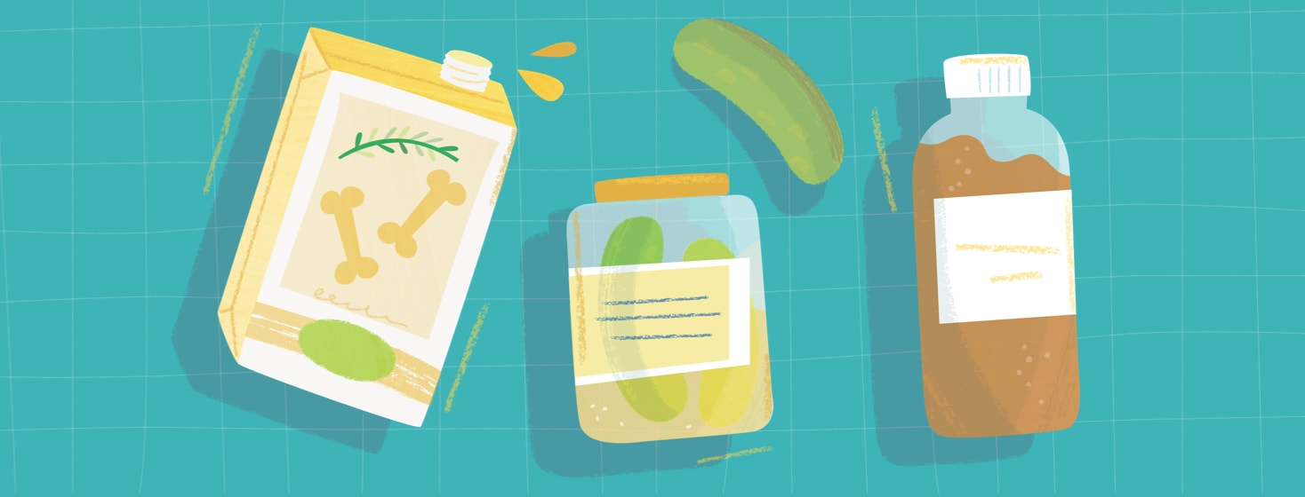 Bone broth, pickles and kombucha - three foods that the author recommends eating after endometriosis surgery