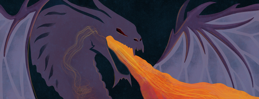 A fire breathing dragon who also has GERD
