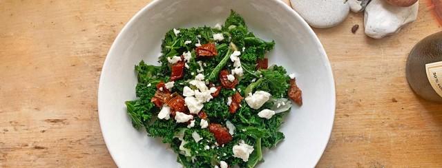Warm Kale And Feta Salad image